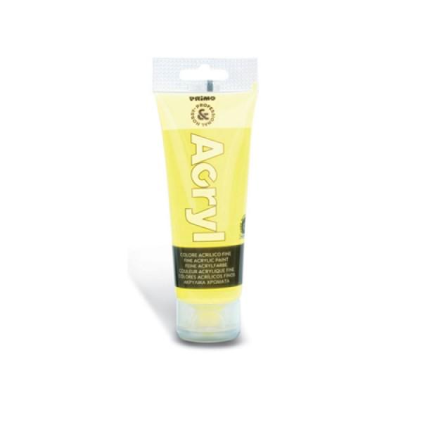 Ακρυλικό Χρώμα Acryl Fluo Κίτρινο 75ml Primo
