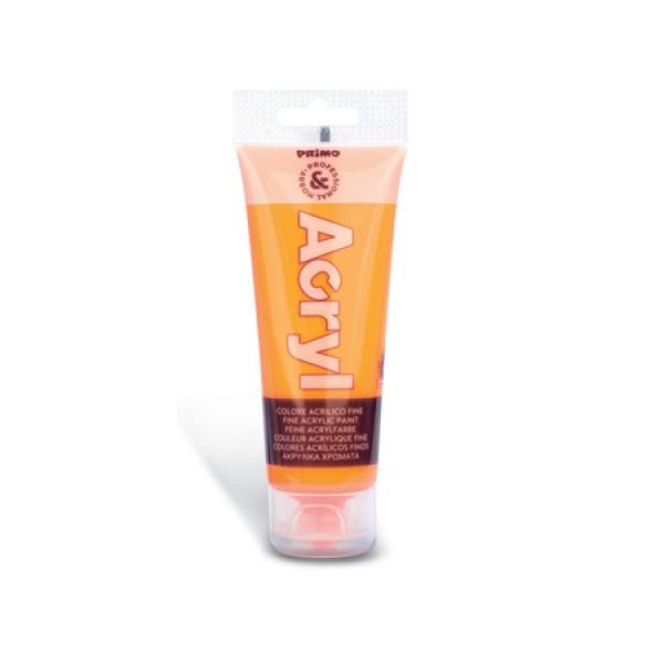 Ακρυλικό Χρώμα Acryl Fluo Πορτοκαλί 75ml Primo