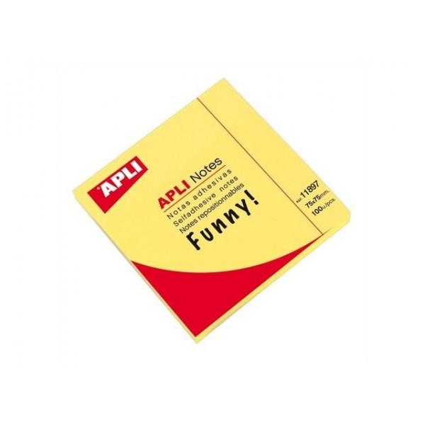 Αυτοκόλλητες Σημειώσεις Funny 75x75mm 100Φ. Apli