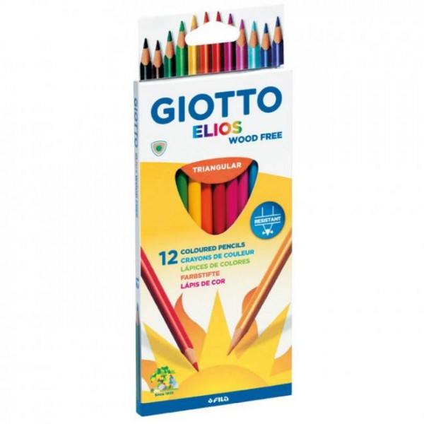 Ξυλομπογιές Giotto Elios (12 Τεμάχια)