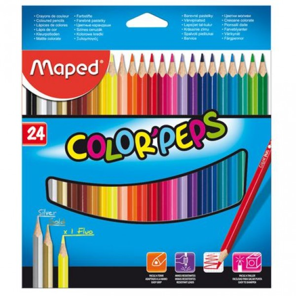 Ξυλομπογιές Maped Color Peps 24τμχ