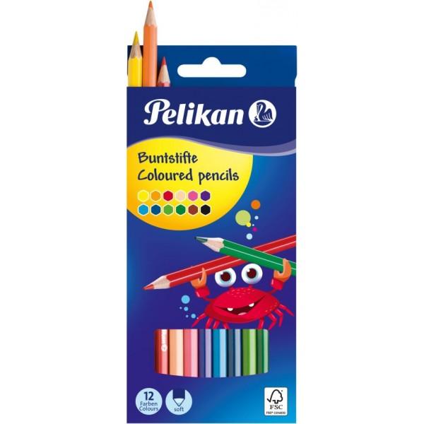 Ξυλομπογιές Pelikan 12 Χρώματα