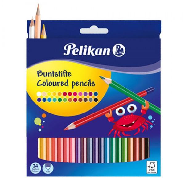 Ξυλομπογιές Pelikan  24 Χρώματα