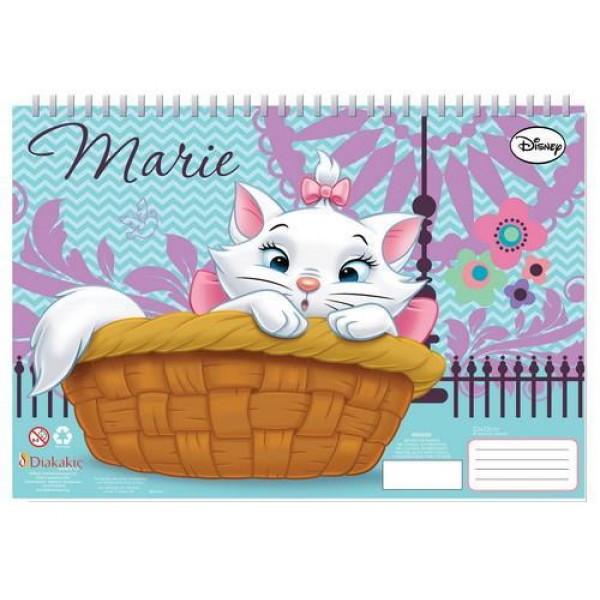 Μπλοκ Ζωγραφικής με Αυτοκόλλητα 23x33 40Φ Marie Cat