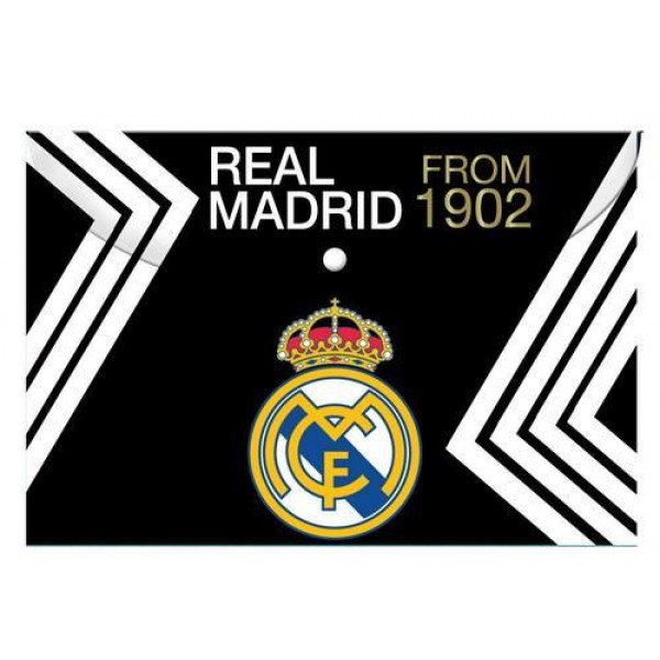 Φάκελος με Κουμπί Α4 Real Madrid