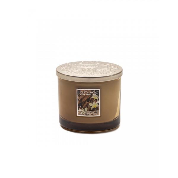 Αρωματικό κερί Σανταλόξυλο και Βανίλια - Δύο Φυτίλια HEART&HOME