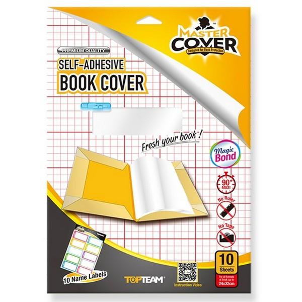Αυτοκόλλητο Κάλυμμα Βιβλίων 10 Τεμ. Master Cover