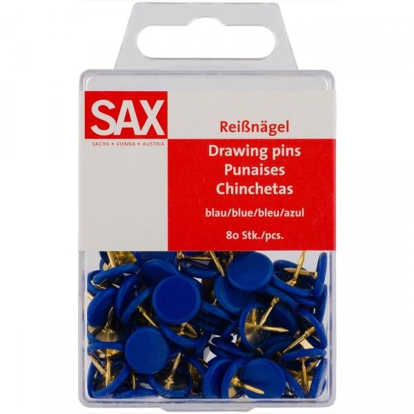 Πινέζες Μπλε 80τμχ. Sax