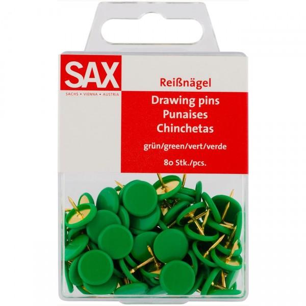 Πινέζες Πράσινες 80τμχ. Sax