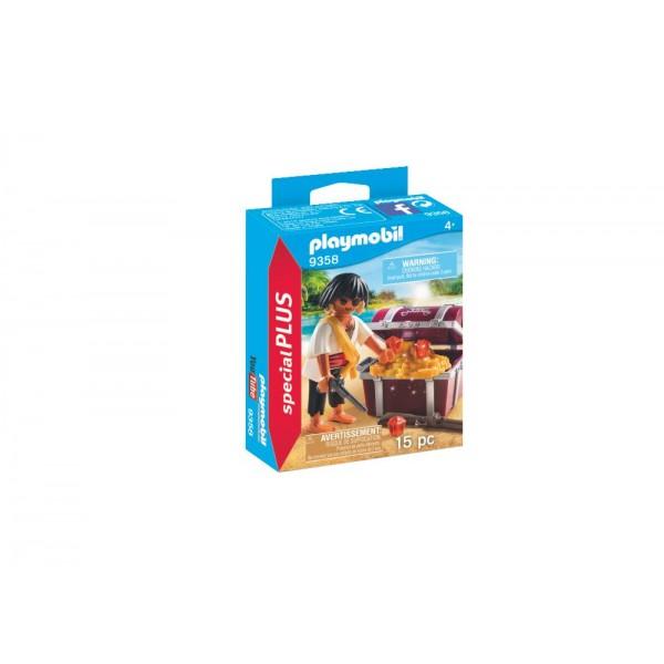 Playmobil 9358 Πειρατής Με Σεντούκι Θησαυρού