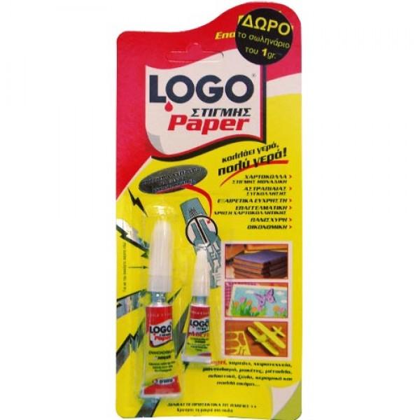 Κόλλα Στιγμής 3gr (+1gr Δώρο) Paper Logo