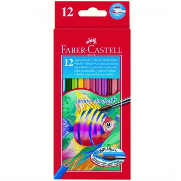 Ξυλομπογιές Faber-Castell Aquarell 12τμχ