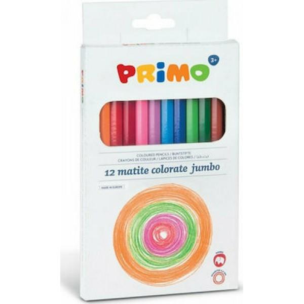 Ξυλομπογιές PRIMO Jumbo 12τμχ