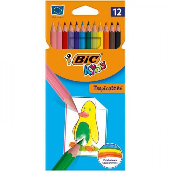 Ξυλομπογιές BIC Tropicolors 12τμχ