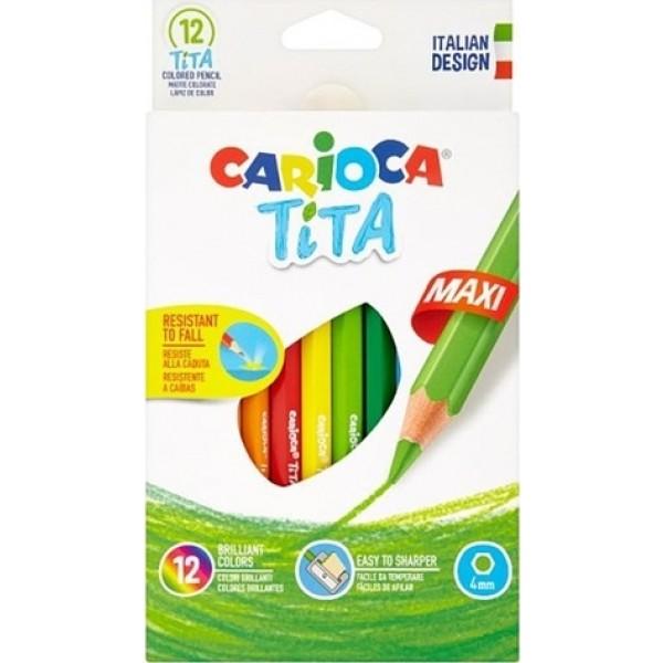 Ξυλομπογιές CARIOCA Tita MAXI 12τμχ