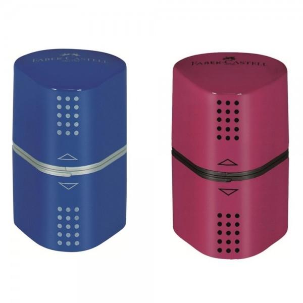 Ξύστρα Tριπλή Bαρελάκι Faber Castell