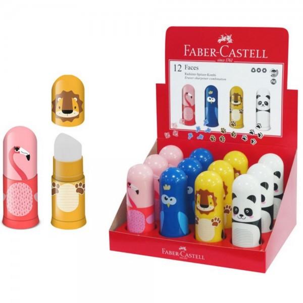 Ξύστρα Bαρελάκι με Γόμα Motif Animal Faber Castell