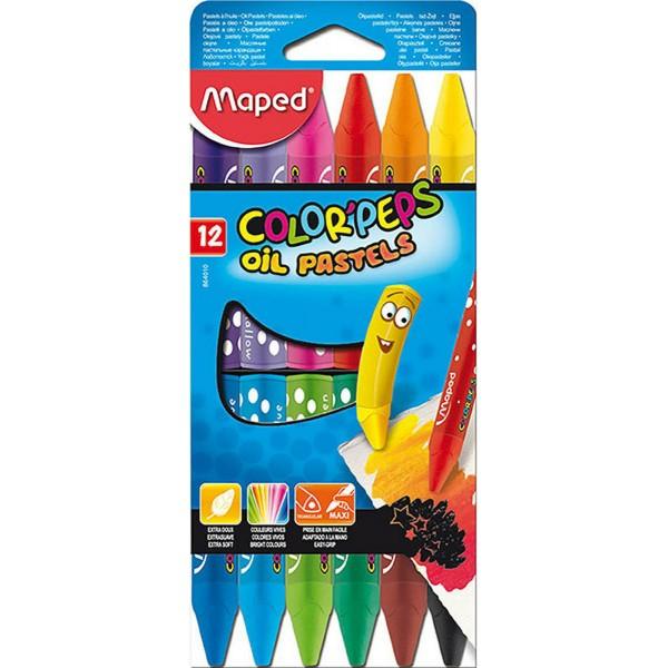 Λαδοπαστέλ Oil-Pastels Maped Color Peps 12 τμχ