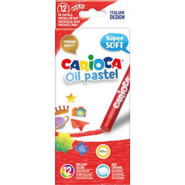 Λαδοπαστέλ oil-pastel Carioca 12 τμχ