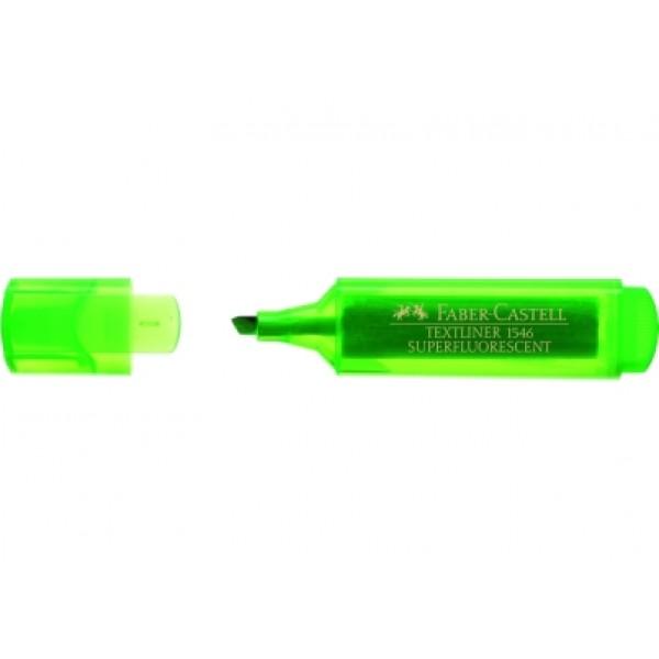 Μαρκαδόρος Υπογράμμισης Faber Castell Superfluorescent 1546 Πράσινος