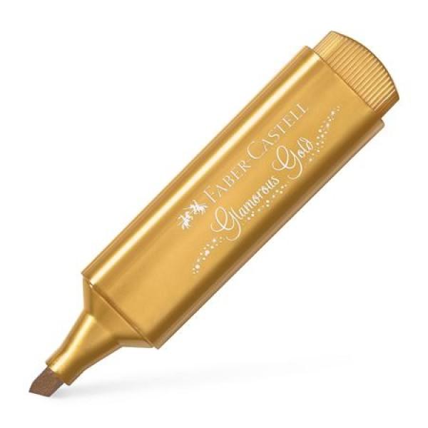 Μαρκαδόρος Υπογράμμισης Faber Castell Metallic 1546 Glamorous Gold