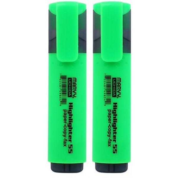 Μαρκαδόρος Υπογράμμισης Πράσινος Highlighter 55 Marvy Uchida