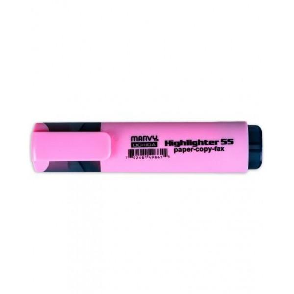 Μαρκαδόρος Υπογράμμισης Ροζ Highlighter 55 Marvy Uchida