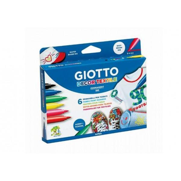 Μαρκαδόροι Giotto Decor Textile 6 τμχ