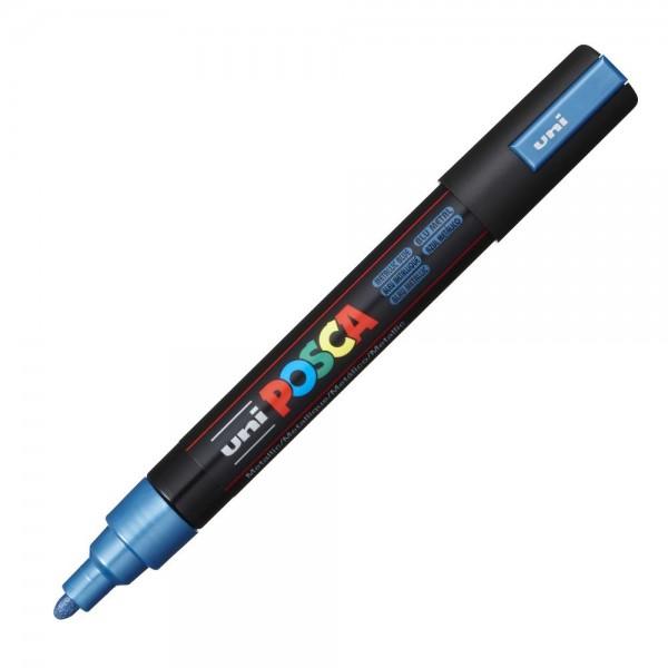 Μαρκαδόρος Posca PC-5M Μέταλ Μπλε Uni