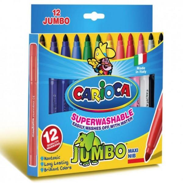 Μαρκαδόροι 12τεμ. Jumbo Carioca