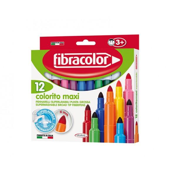 Μαρκαδόροι Colorito Maxi 12 τεμ. Fibracolor