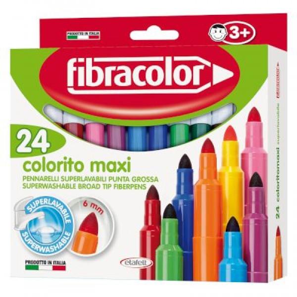 Μαρκαδόροι Colorito Maxi 24 τεμ. Fibracolor