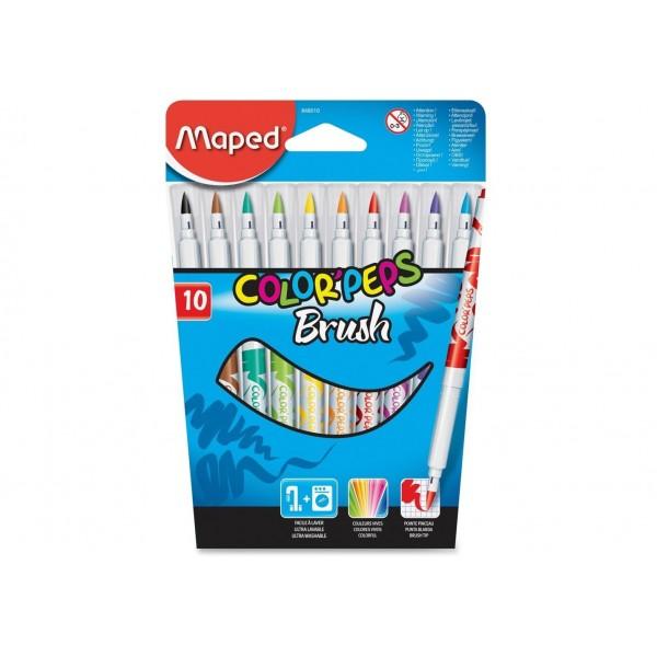 Μαρκαδόροι Maped Brush 10τμχ