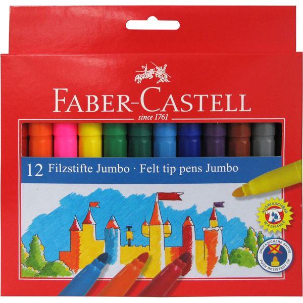 Μαρκαδόροι 12 τεμ. Jumbo Faber-Castell