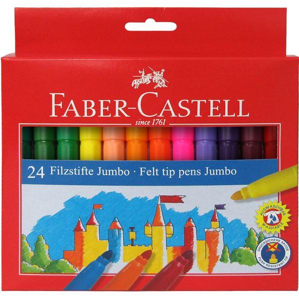 Μαρκαδόροι 24 τεμ. Jumbo Faber-Castell