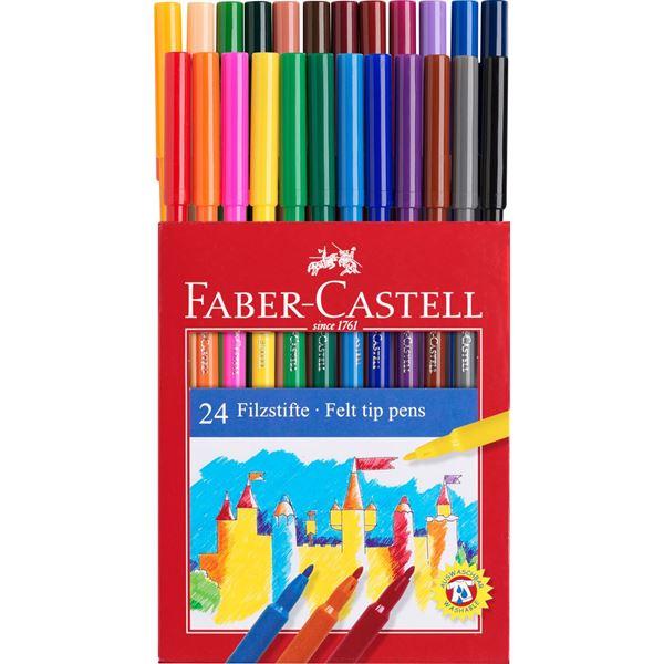 Μαρκαδόροι Λεπτοί 24τεμ. Faber-Castell