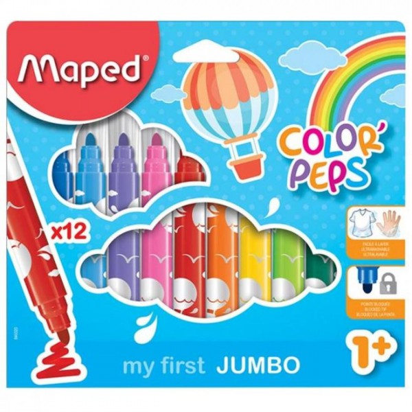 Μαρκαδόροι Color Peps My First Jumbo 12τεμ. Maped