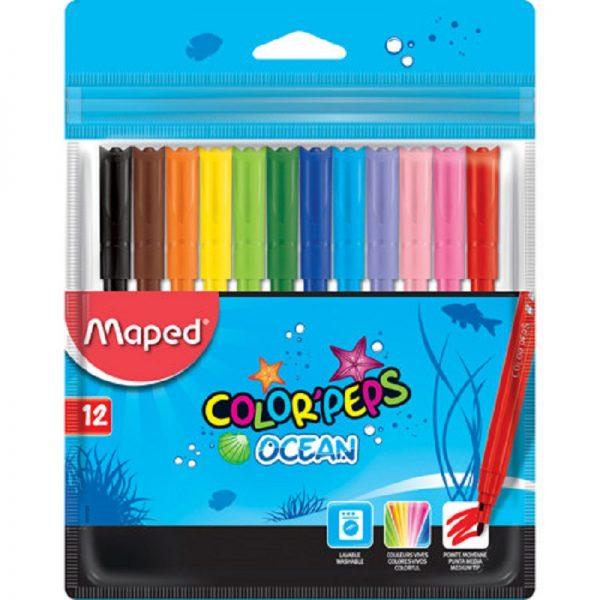 Μαρκαδόροι Color Peps Ocean 12 τεμ. Maped