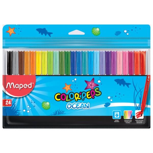 Μαρκαδόροι Color Peps Ocean 24 τεμ. Maped