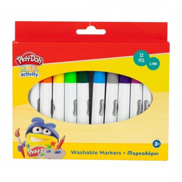 Μαρκαδόροι Play-doh Washable 12τεμ.