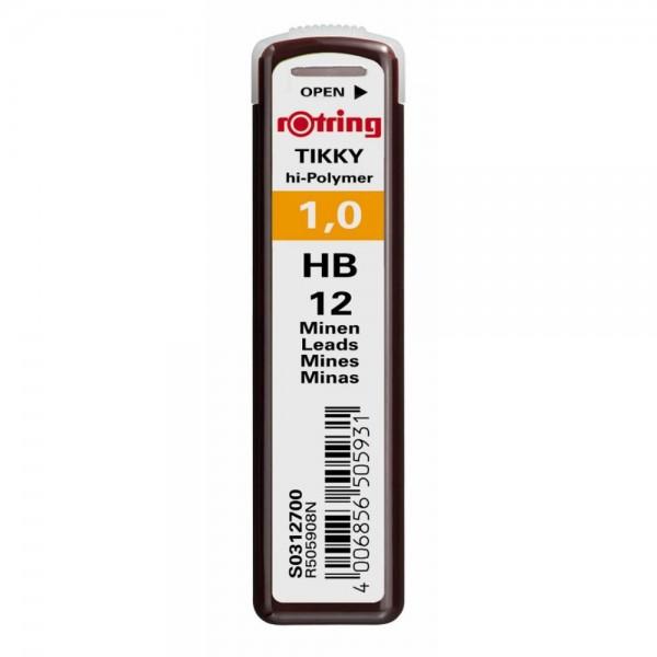 Μύτες Mηχανικών Mολυβιών 1mm. HB Hi-Polymer Rotring