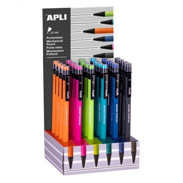 Μηχανικό μολύβι με γόμα APLI 0.7MM
