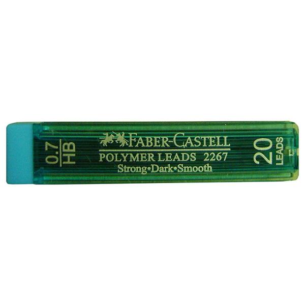 Μύτες Μηχανικών Μολυβιών ΗB 0.7mm Polymer 20 τμχ Faber Castell