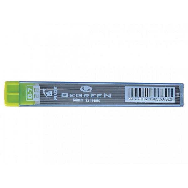 Μύτες Μηχανικών Μολυβιών 2B 0.7mm Polymer 12 τμχ Pilot