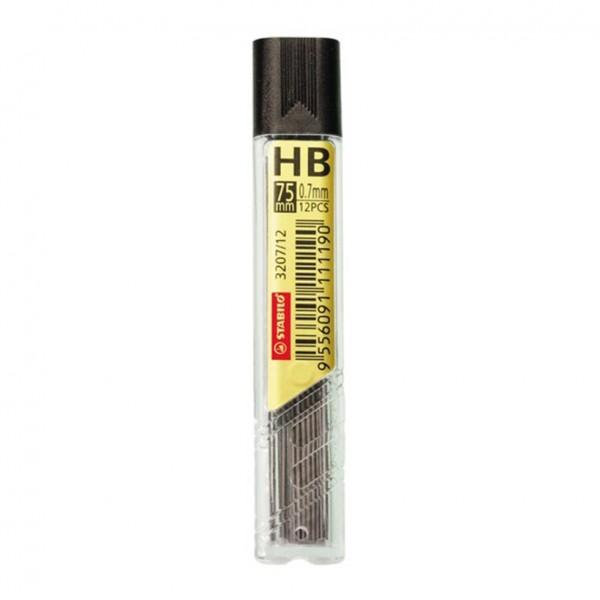 Μύτες Μηχανικών Μολυβιών HB 0.7mm Hi-Polymer 12τμχ Stabilo