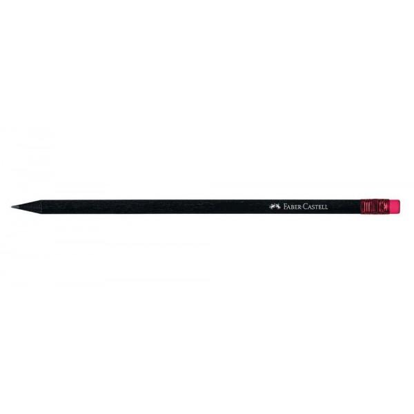 Μολύβι Μαύρο Mε Ροζ Γόμα HB Faber Castell
