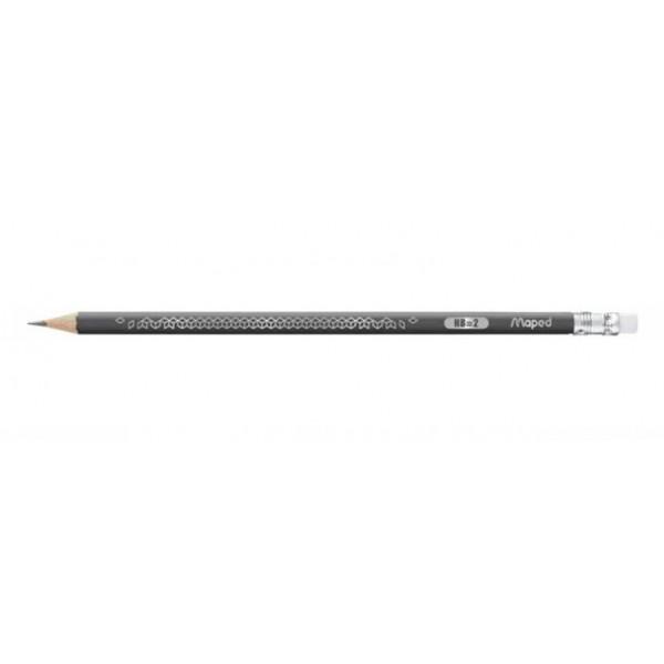 Μολύβι Black'Peps Deco HB Γκρι Με Γόμα Maped