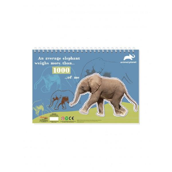 Μπλοκ Ζωγραφικής με Αυτοκόλλητα 23x33 40Φ Animal Planet