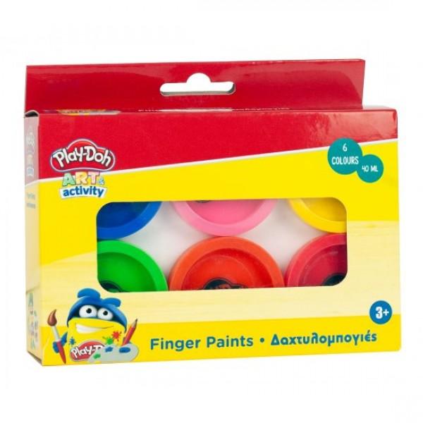 Δακτυλομπογιές Σετ 6 Χρωμάτων 40ml Play-doh