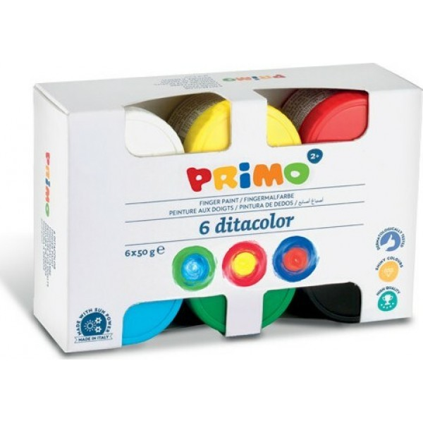 Δακτυλομπογιές Σετ 6 Χρωμάτων 50ml Primo
